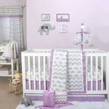 Lavender And Grey Crib Bedding I M Loving This Baby Elephant And Chevron Zig Zag