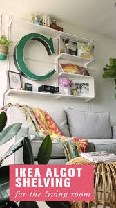 Living Room Rubbermaid Storage Rack Living Room Wall Storage Ikea Algot Shelving Home Pinterest