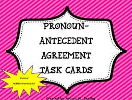 10 best pronouns and antecedents images on pinterest task cards