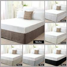 superior percale box pleated base valance bed wrap msexta