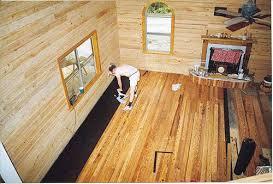 log floor log cabin inside construction pictures