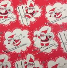 vintage wrapping paper vintage wrapping paper mod santa in pink reindeer background