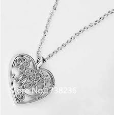 s day charm necklace best heart charm necklace fashion s day birthday