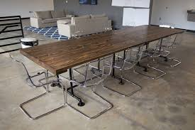 dark wood conference table collection in solid wood conference table with industrial conference