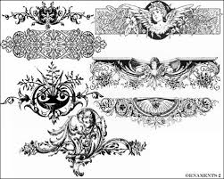 50 photoshop ornament brushes add classic decoration
