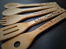 engraved wedding gifts ideas 5 personalized kitchen utensils wedding gift for engraved