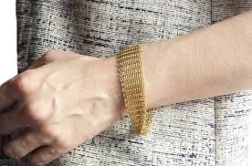 gold mesh bracelet images Tiffany co elsa peretti 18k yellow gold mesh bracelet medium jpg