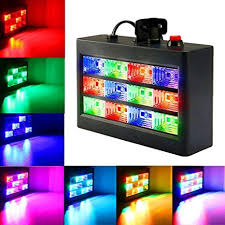 sound activated dj lights amazon com dj party lights solmore 15w 12 led strobe rgb stage