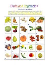 fruits and vegetables worksheet by liya osetrova