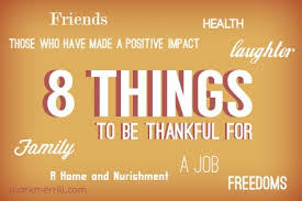 8 things to be thankful for what are you most thankful for