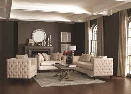 Traditional Tufted Sofa by Coaster Claxton Traditional Tuxedo Sofa With Tufting Coaster