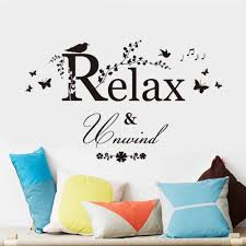 online get cheap vine wall stickers aliexpress com alibaba group amp black butterfly bird flower vine relax quotes wall sticker kids room bedroom home decor