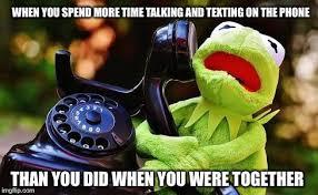 Talking On The Phone Meme - kermit phone imgflip