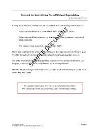 child travel consent us territories legal templates