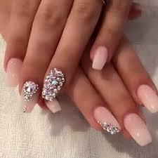 imagenes de uñas acrilicas con pedreria 75 diseños de uñas con piedras muy brillantes belleza de mujeres