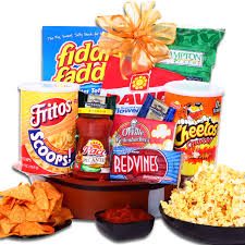 snack basket football party snack gift basket