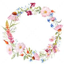 flower wreath watercolor floral wreath by zenina graphicriver