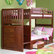 Loft Bed With Desk On Top Wooden Bunk Beds You U0027ll Love Wayfair