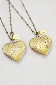 personalized heart locket heart locket necklace bridesmaid gift necklace heart