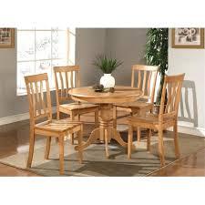 East West Furniture ANTIOAKW  Piece Antique Round Kitchen - Antique round kitchen table