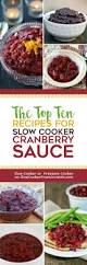 the top ten recipes for slow cooker cranberry sauce slow cooker