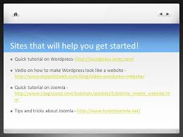 wordpress quick tutorial wordpress vs joomla by kendall wilkerson both are very popular