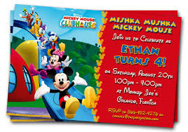 Free Mickey Mouse Baby Shower Invitation Templates - mickey mouse clubhouse invitation template mickey mouse clubhouse