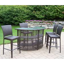 Bar Height Patio Dining Set by Cool High Table Patio Sets Of Vintage Resin Wicker Chairs And Half