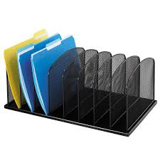 Safco Mesh Desk Organizer Safco Onyx Steel Mesh 8 Section Desk Organizer 19 3 8 Inch X 11 3