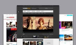 templates for video website html templates for video tube video sharing and video portals