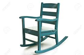 Teal Rocking Chair Antique Blue Rocking Chair Stock Photo Picture And Royalty Free