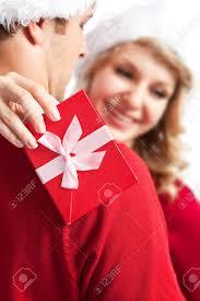 a portrait of a happy cute caucasian receiving a surprise