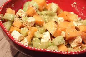 cuisiner concombre salade de melon concombre et fêta pour ceux qui aiment cuisiner