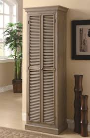 Hallway Cabinet Doors Wood Storage Cabinet With Shutter Doors In Hallway Idea Of