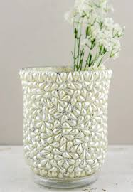 Hurricaine Vase Beaded Hurricane Vase U0026 Candle Holder 6