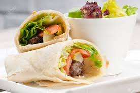 kafta shawarma chicken pita wrap roll sandwich traditional arab