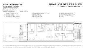 superficie chambre plans intérieurs quatuor des érables
