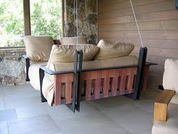 swinging porch bed
