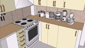 Sketchup Kitchen Design Tiny Space Saving Ideas Sketchup Interior Design Youtube
