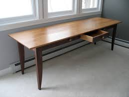 long desk for 2 custom writing desk with drawers in walnut and cherry david