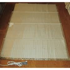 portable electric radiant floor heating for area rugs rugs