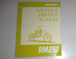 suzuki rm250 owner u0027s service manual