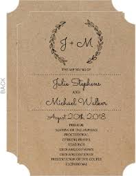 wedding programs rustic wedding programs