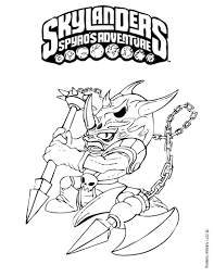 skylanders coloring pages spyro coloringstar