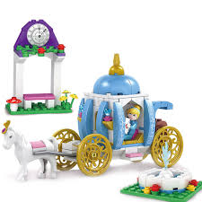 pumpkin carriage kazi 238pcs pumpkin carriage building blocks toys cinderella