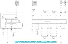 toyota yaris anti braking system abs wiring diagram