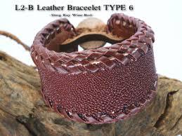 leather bracelet craft images Samurai craft samurai craft leather l2 b leather bracelet type 1 jpg