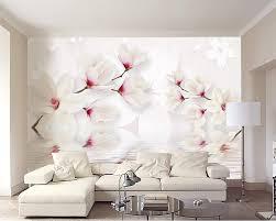 aliexpress com buy beibehang custom wall murals wallpaper white aliexpress com buy beibehang custom wall murals wallpaper white magnolia flower 3d photo wallpaper mural bedroom living room tv wall 3d wallpaper from