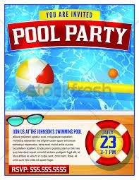 pool party invitation template vector illustration jason