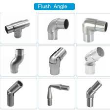 china railing square type tube connector tee flush angle for
